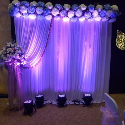 Photo Booth with Flower Decoration