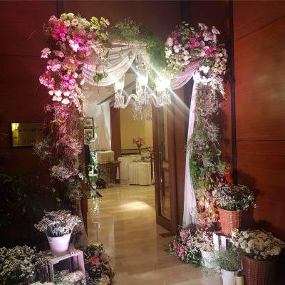 Door Decoration with Flowers